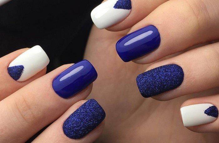 матовые и глянцевые ногти