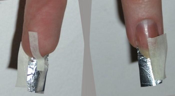 фольга для восстановления ногтя