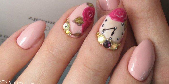 дизайн ногтей часы с ногтями