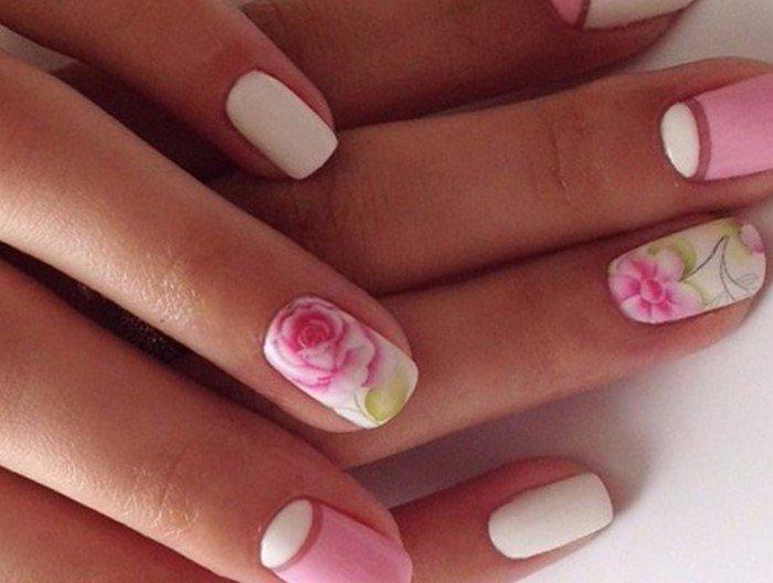 слайдер розы на ногтях