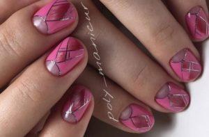 розово-малиновые ногти