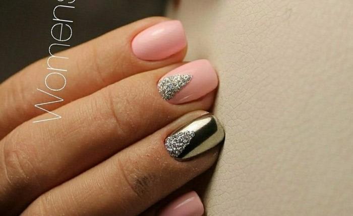 розовые ногти с литьем