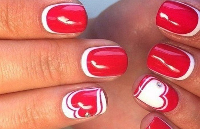 красные-ногти-с рисунком (1)