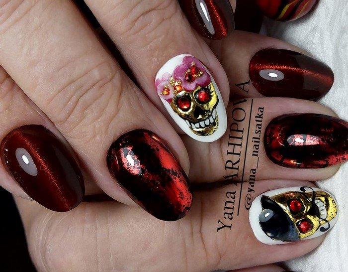 красные-ногти-с рисунком (102)