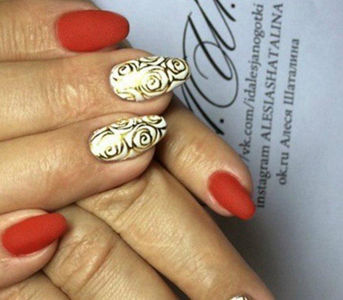 красные-ногти-с рисунком (105)