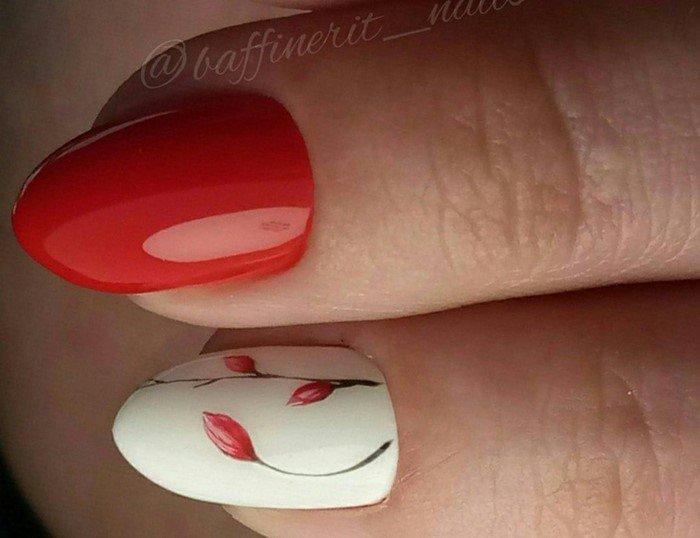 красные-ногти-с рисунком (107)