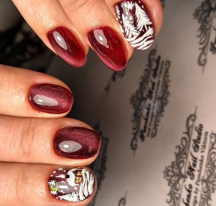 красные-ногти-с рисунком (12)