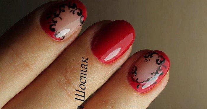 красные-ногти-с рисунком (13)