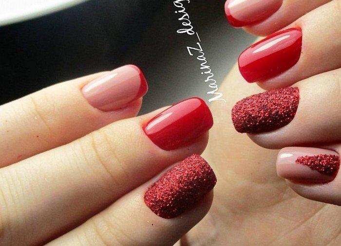 красные-ногти-с рисунком (18)