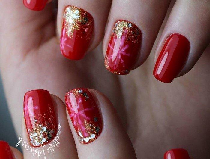 красные-ногти-с рисунком (19)