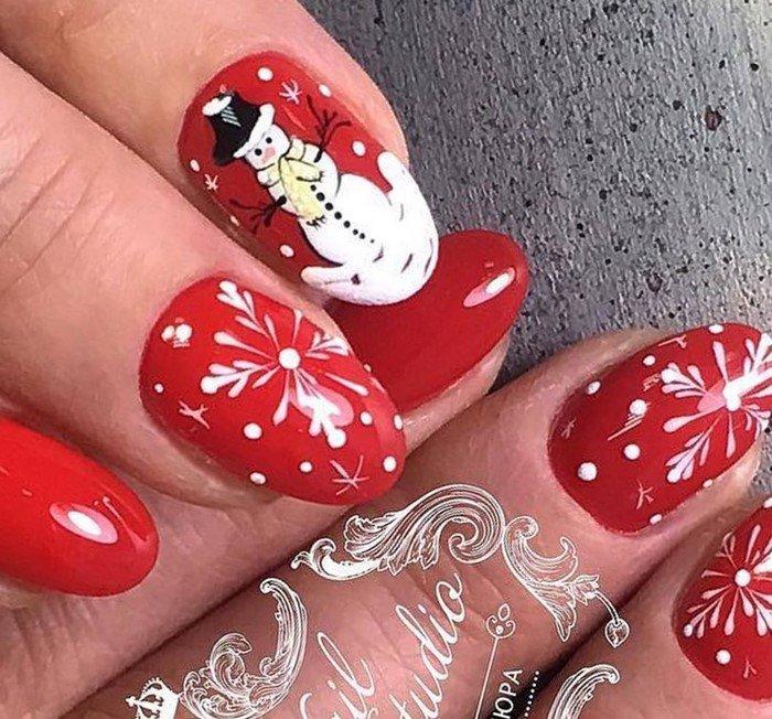 красные-ногти-с рисунком (23)