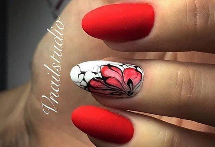 красные-ногти-с рисунком (25)