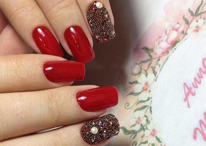 красные-ногти-с рисунком (27)