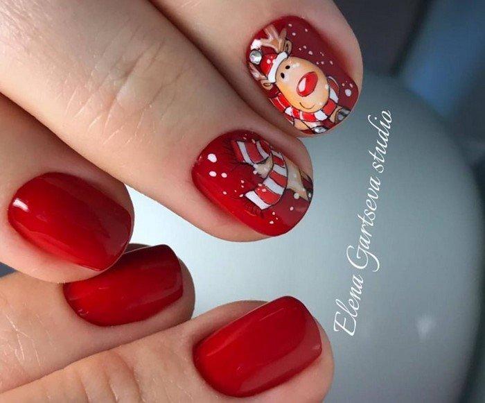 красные-ногти-с рисунком (29)
