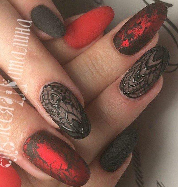 красные-ногти-с рисунком (3)