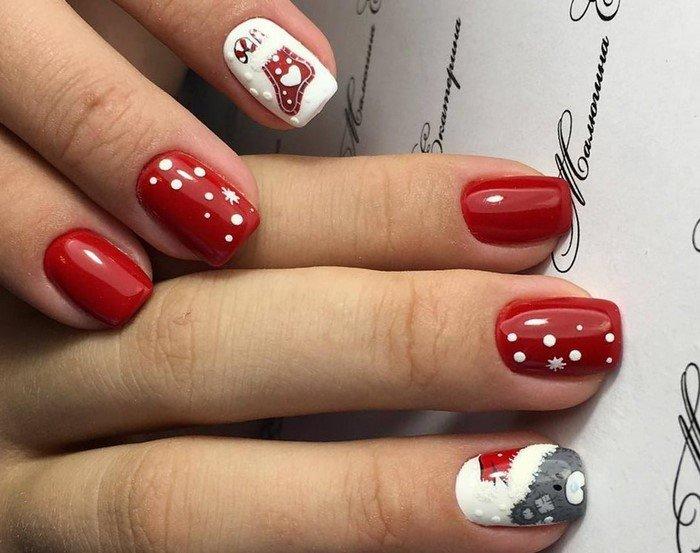 красные-ногти-с рисунком (35)