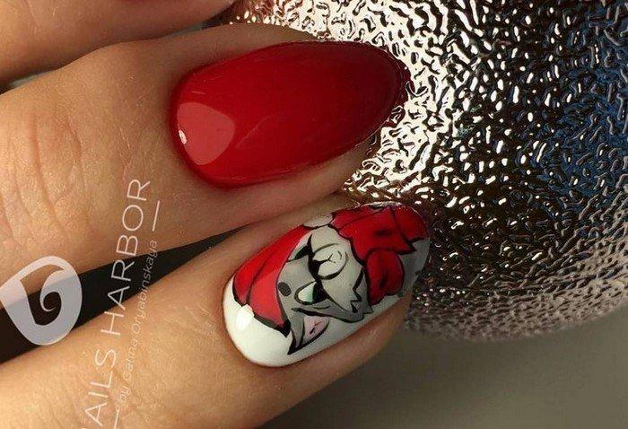 красные-ногти-с рисунком (37)