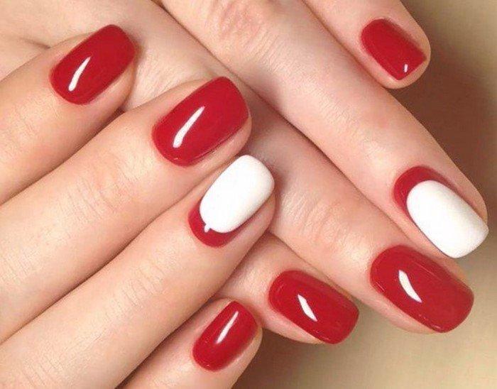 красные-ногти-с рисунком (38)
