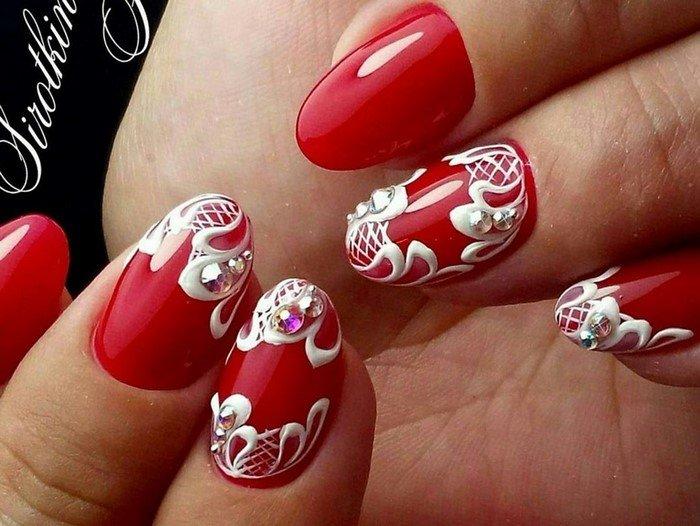красные-ногти-с рисунком (39)