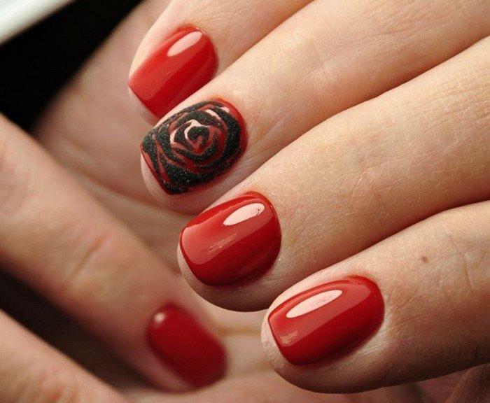 красные-ногти-с рисунком (4)