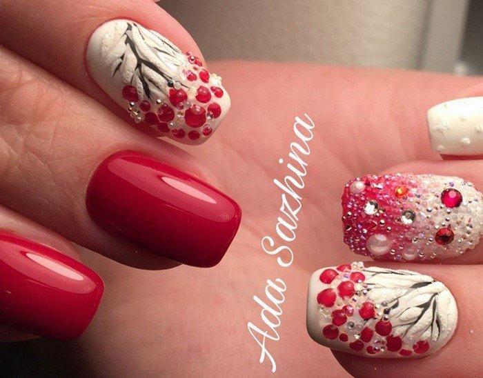 красные-ногти-с рисунком (44)