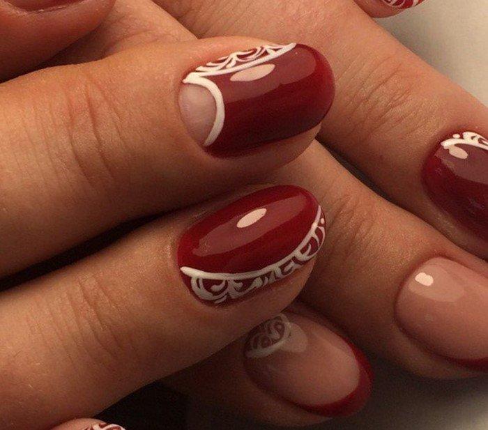 красные-ногти-с рисунком (45)
