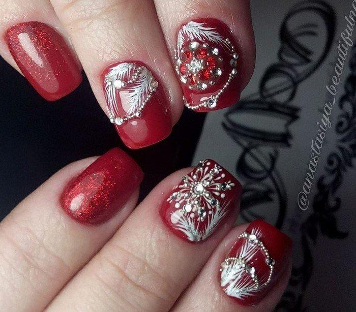 красные-ногти-с рисунком (46)