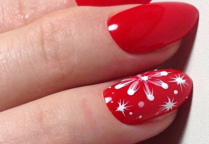 красные-ногти-с рисунком (47)