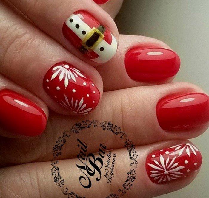 красные-ногти-с рисунком (49)