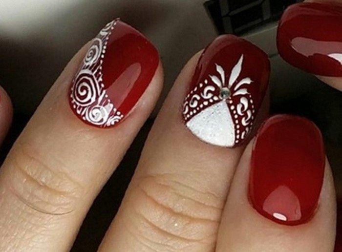 красные-ногти-с рисунком (50)