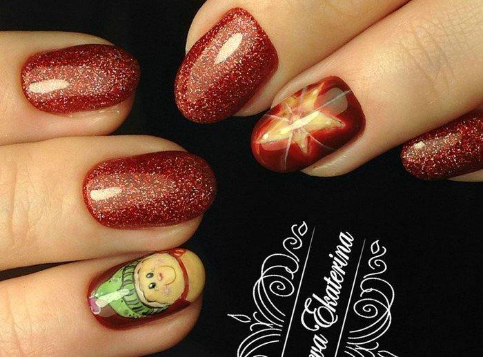 красные-ногти-с рисунком (52)