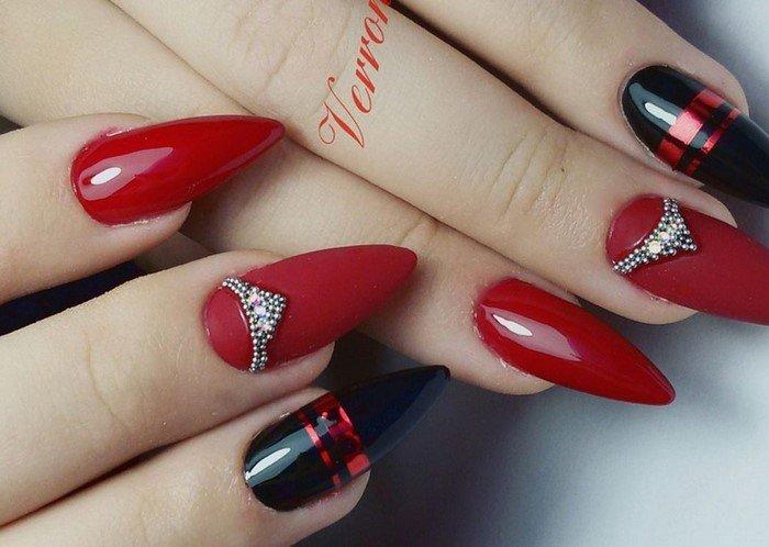 красные-ногти-с рисунком (53)