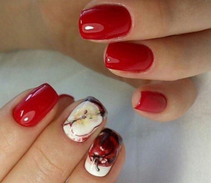 красные-ногти-с рисунком (56)