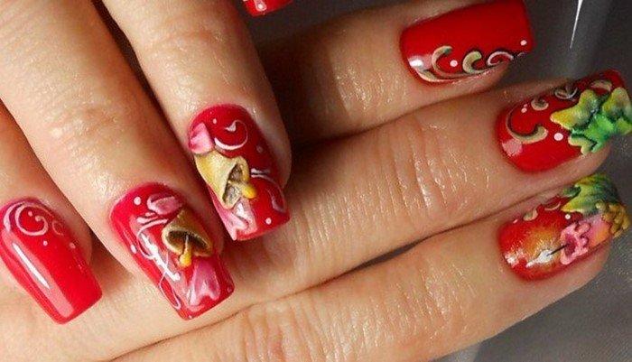 красные-ногти-с рисунком (69)