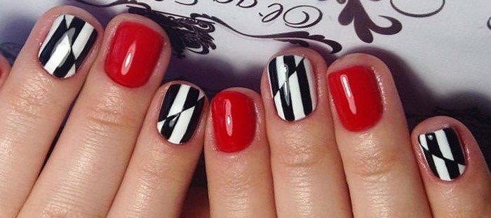 красные-ногти-с рисунком (7)