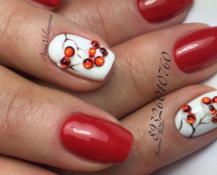 красные-ногти-с рисунком (77)
