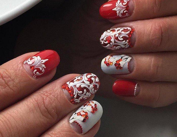 красные-ногти-с рисунком (82)