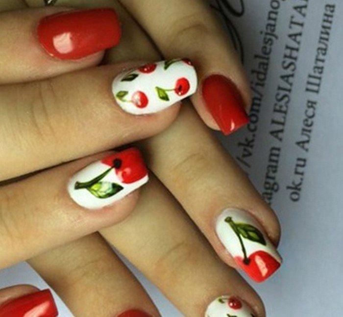 красные-ногти-с рисунком (97)