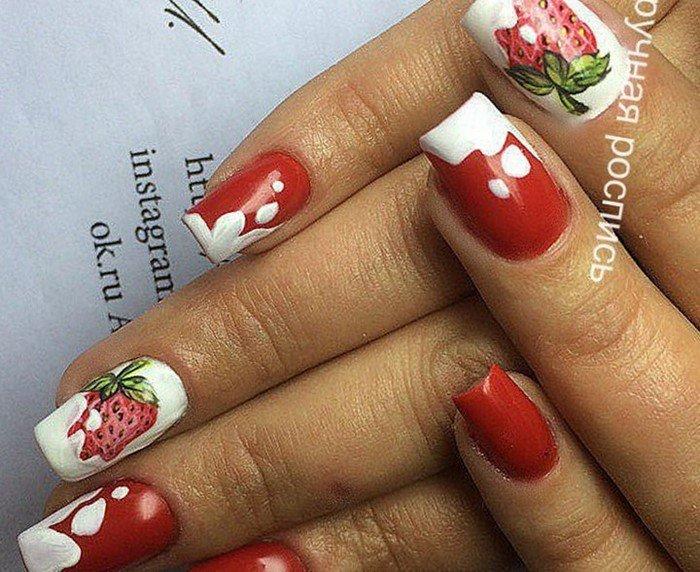 красные-ногти-с рисунком (98)