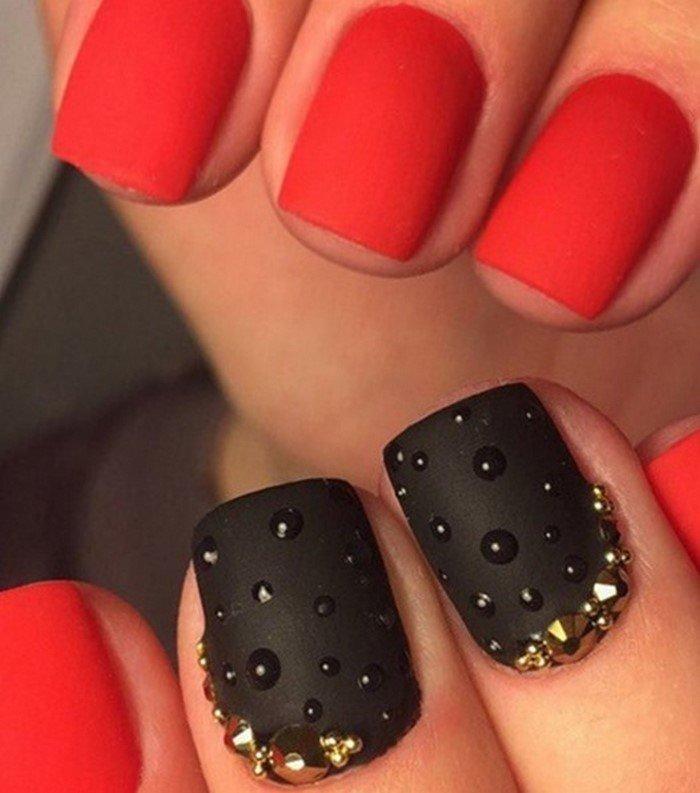 красные-ногти-со стразамми (9)